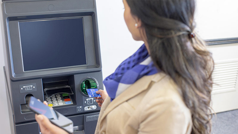 Ensuring your Visa cards are always protected when withdrawing cash at an ATM