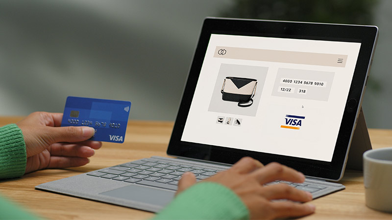 Visa Checkout technology ensures your details are saved securely online