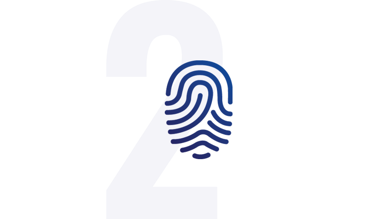 Icon of a finger print