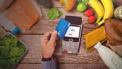 Paying for food using a contactless card